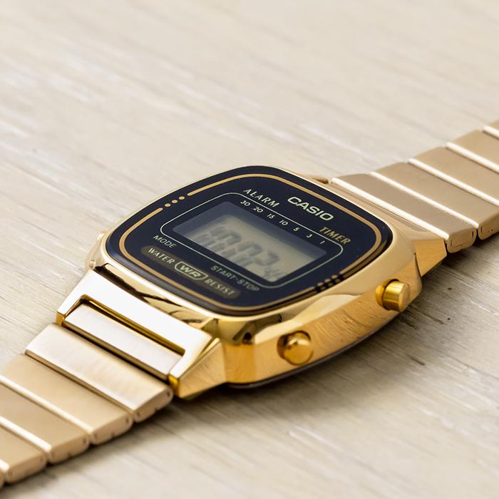 【10年保証】CASIO STANDARD DIGITAL LADYS カシオ スタンダード デジタル レディース LA670WGA-1 腕時計 キッズ 子供 女の子 チープカシオ チプカシ プチプラ ゴールド 金 ブラック 黒
