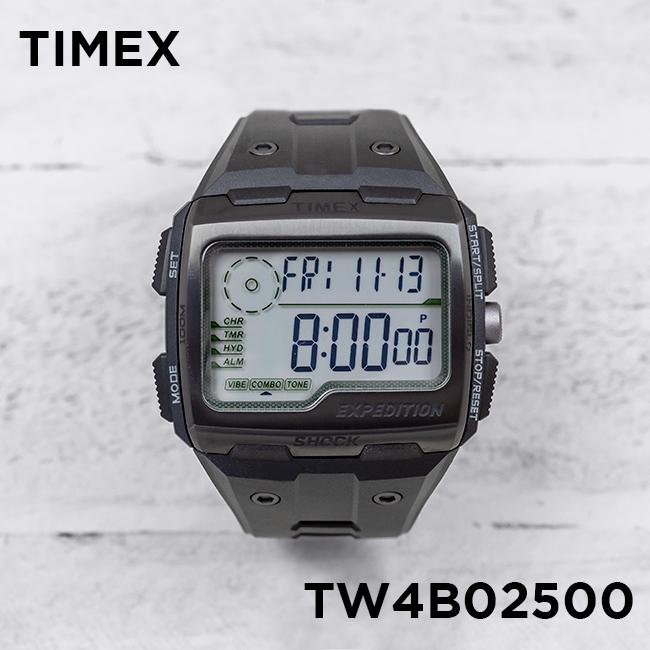 TIMEX タイメックス エクスペディション グリッドショック 50MM TW4B02500 腕時計 メンズ デジタル ブラック 黒 グレー