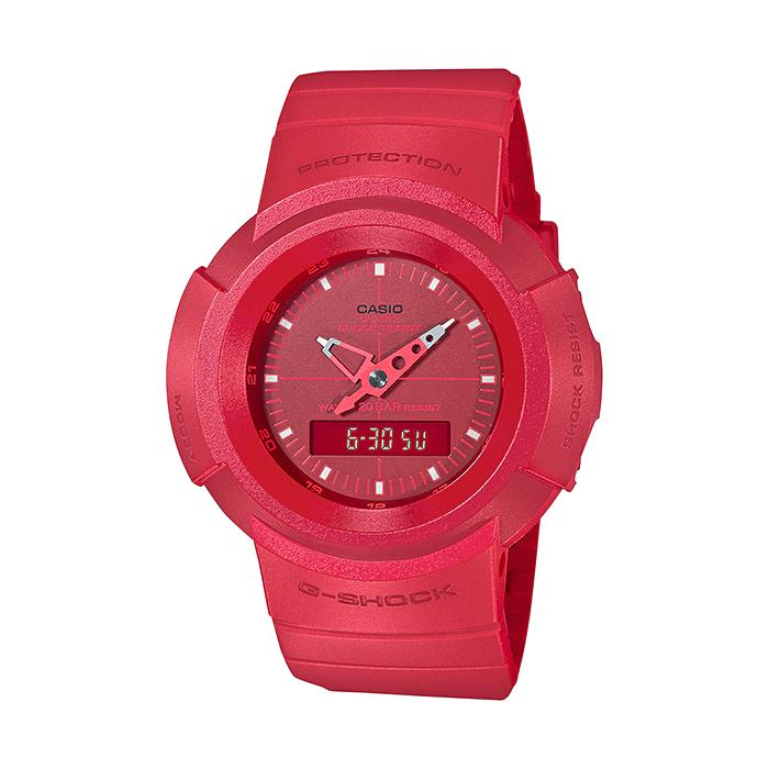 国内正規品 大好評です 送料無料 CASIO G-SHOCK カシオ 1年保証 Gショック AW-500BB-4EJF 腕時計 男の子 アナデジ 赤 防水 子供 レッド メンズ キッズ