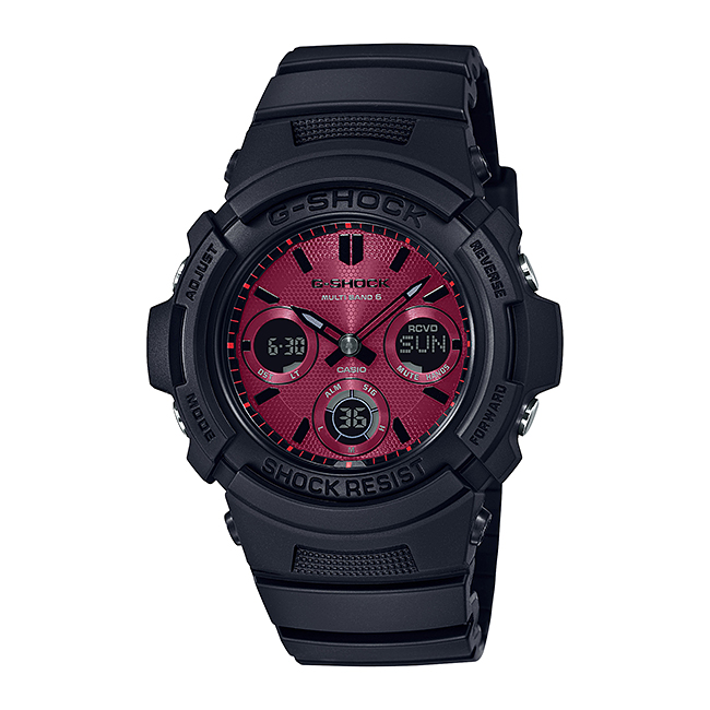 CASIO G-SHOCK カシオ Gショック AWG-M100SAR-1AJF 腕時計 メンズ キッズ 子供 男の子 アナデジ 電波 ソーラー ソーラー電波時計 防水 ブラック 黒 レッド 赤