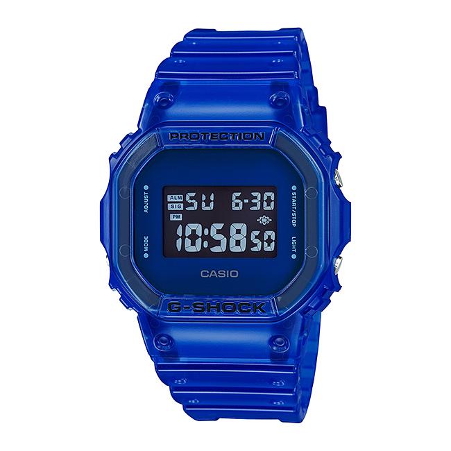 CASIO G-SHOCK カシオ Gショック DW-5600SB-2JF 腕時計 メンズ キッズ 子供 男の子 デジタル 防水 ブルー 青 ネイビー スケルトン