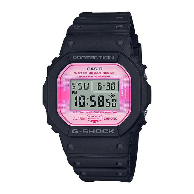 CASIO G-SHOCK カシオ Gショック DW-5600TCB-1JR 腕時計 メンズ キッズ 子供 男の子 デジタル 防水 ブラック 黒 ピンク 桜