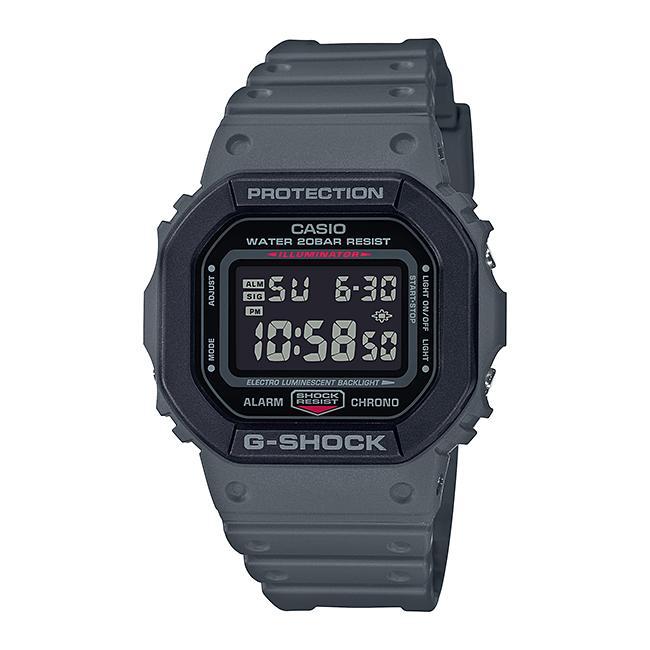 CASIO G-SHOCK カシオ Gショック DW-5610SU-8JF 腕時計 メンズ キッズ 子供 男の子 デジタル 防水 ブラック 黒 グレー