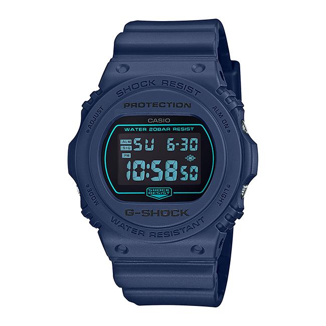 CASIO G-SHOCK カシオ Gショック DW-5700BBM-2JF 腕時計 メンズ キッズ 子供 男の子 デジタル 防水 ネイビー ブラック 黒