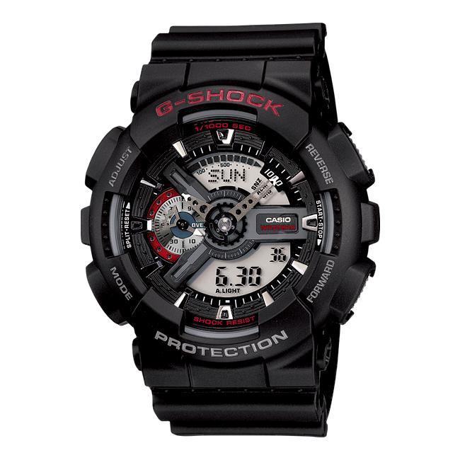 【10年保証】CASIO G-SHOCK カシオ Gショック GA-110-1A 腕時計 メンズ キッズ 子供 男の子 アナデジ 防水 ブラック 黒