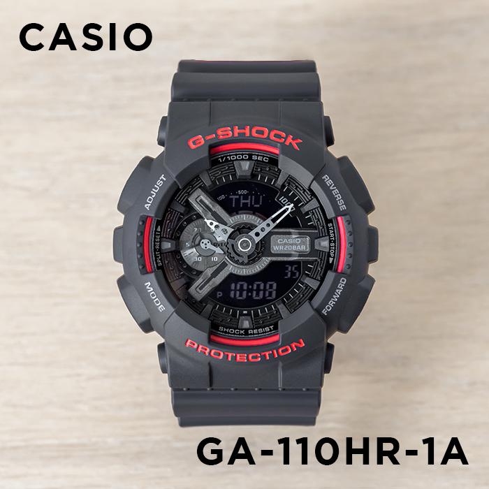 【10年保証】CASIO G-SHOCK カシオ Gショック GA-110HR-1A 腕時計 メンズ キッズ 子供 男の子 アナデジ 防水 ブラック 黒 レッド 赤