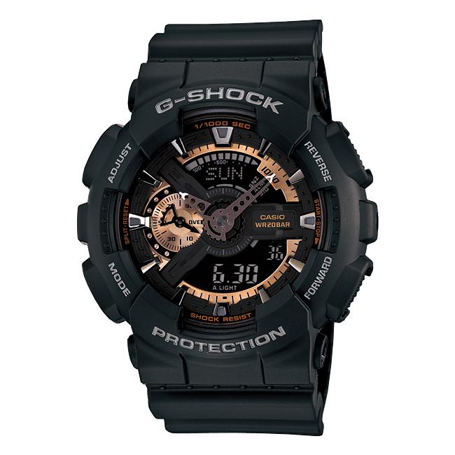 【10年保証】CASIO G-SHOCK カシオ Gショック GA-110RG-1A 腕時計 メンズ キッズ 子供 男の子 アナデジ 防水 ブラック 黒 ローズゴールド
