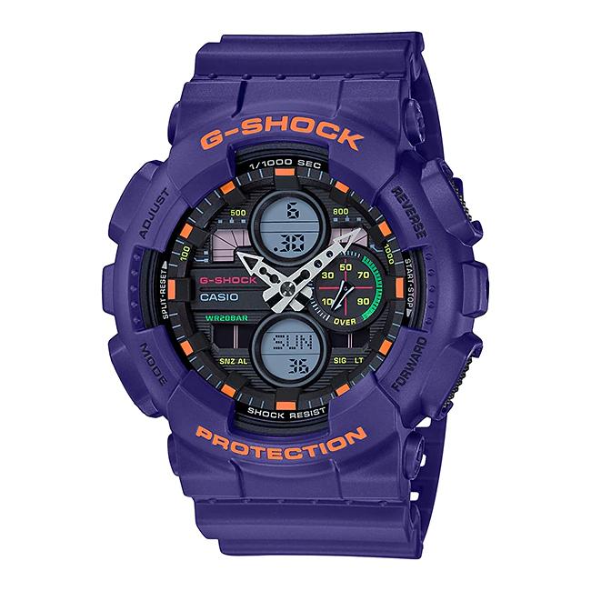 【10年保証】CASIO G-SHOCK カシオ Gショック GA-140-6A 腕時計 メンズ キッズ 子供 男の子 アナデジ 防水 パープル 紫 ブラック 黒