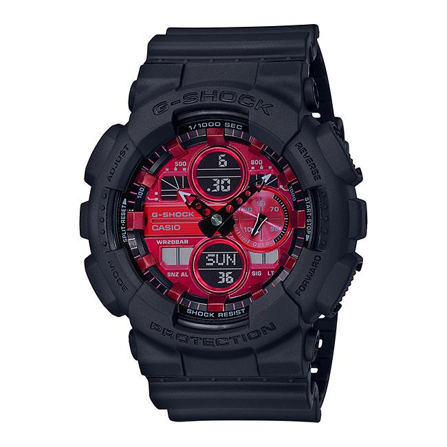 CASIO G-SHOCK カシオ Gショック GA-140AR-1AJF 腕時計 メンズ キッズ 子供 男の子 アナデジ 防水 ブラック 黒 レッド 赤