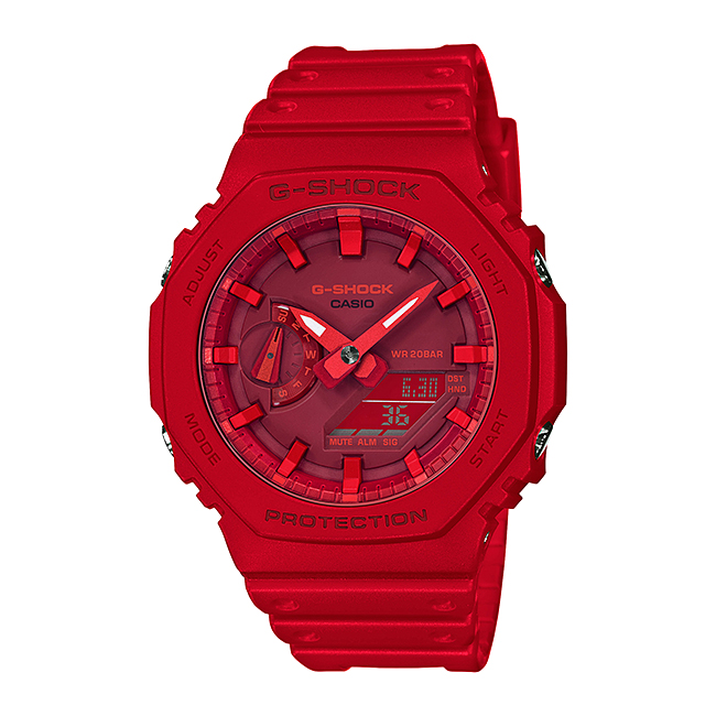 CASIO G-SHOCK カシオ Gショック GA-2100-4AJF 腕時計 メンズ キッズ 子供 男の子 アナデジ 防水 レッド