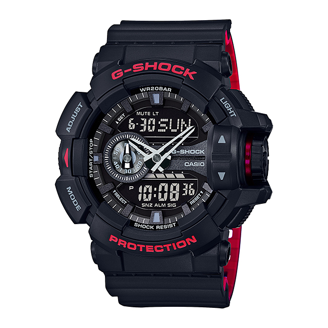 【10年保証】CASIO G-SHOCK カシオ Gショック GA-400HR-1A 腕時計 メンズ キッズ 子供 男の子 アナデジ 防水 ブラック 黒 レッド 赤
