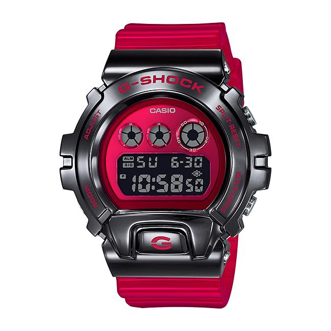 CASIO G-SHOCK カシオ Gショック GM-6900B-4JF 腕時計 メンズ キッズ 子供 男の子 デジタル 防水 レッド 赤 ブラック 黒 スケルトン