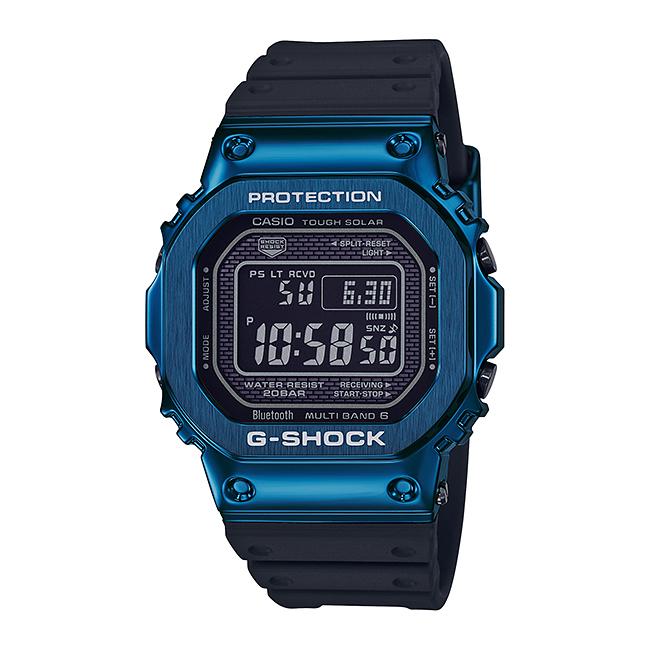 CASIO G-SHOCK カシオ Gショック GMW-B5000G-2JF 腕時計 メンズ キッズ 子供 男の子 デジタル 電波 ソーラー ソーラー電波時計 ブルートゥース 防水 ネイビー ブラック 黒