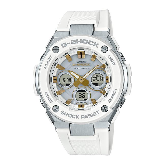 CASIO G-SHOCK カシオ Gショック Gスチール GST-W300-7AJF 腕時計 メンズ キッズ 子供 男の子 アナデジ 電波 ソーラー ソーラー電波時計 防水 ブラック 黒 ゴールド 金