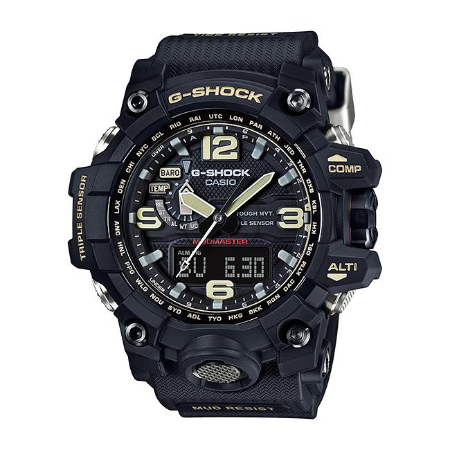 【10年保証】CASIO G-SHOCK カシオ Gショック マッドマスター GWG-1000-1A 腕時計 メンズ キッズ 子供 男の子 アナデジ 電波 ソーラー ソーラー電波時計 防水 ブラック 黒