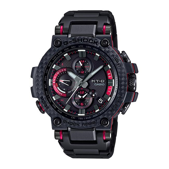 CASIO G-SHOCK カシオ Gショック MT-G MTG-B1000XBD-1AJF 腕時計 メンズ キッズ 子供 男の子 アナデジ 電波 ソーラー ソーラー電波時計 ブルートゥース 防水 ブラック 黒 レッド 赤