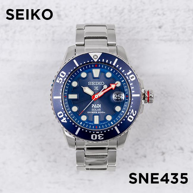 【10年保証】【日本未発売】SEIKO セイコー プロスペックス ソーラー ダイバー PADI スペシャル エディション SNE435 腕時計 メンズ 逆輸入 アナログ シルバー ネイビー 海外モデル