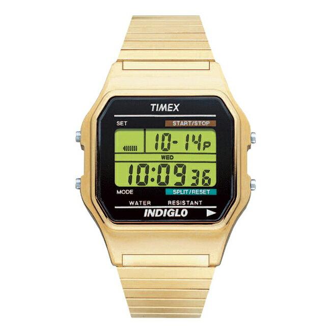 【訳あり】【小キズあり】TIMEX CLASSIC DIGITAL タイメックス クラシック デジタル T78677 腕時計 メンズ レディース ゴールド 金 ブラック 黒