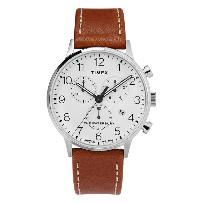 TIMEX タイメックス ザ ウォーターベリー クラシック クロノグラフ 40MM TW2T28000 腕時計 メンズ ミリタリー アナログ ホワイト 白 ブラウン 茶 レザー 革ベルト 海外モデル