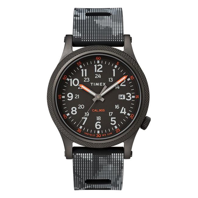 TIMEX タイメックス アライド LT 40MM TW2T33600 腕時計 メンズ ミリタリー アナログ ブラック 黒 グレー カモフラージュ 迷彩
