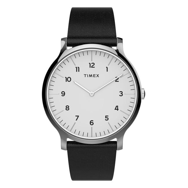 TIMEX タイメックス ノルウェー 40MM TW2T66300 腕時計 メンズ アナログ ホワイト 白 ブラック 黒 レザー 革ベルト