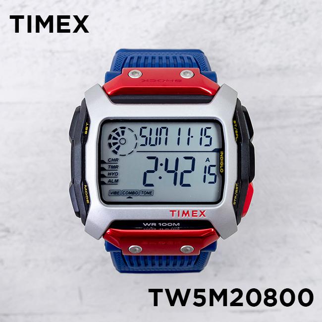 TIMEX タイメックス コマンド ショック レッドブル クリフダイビング 54MM TW5M20800 腕時計 メンズ デジタル レッド 赤 ネイビー