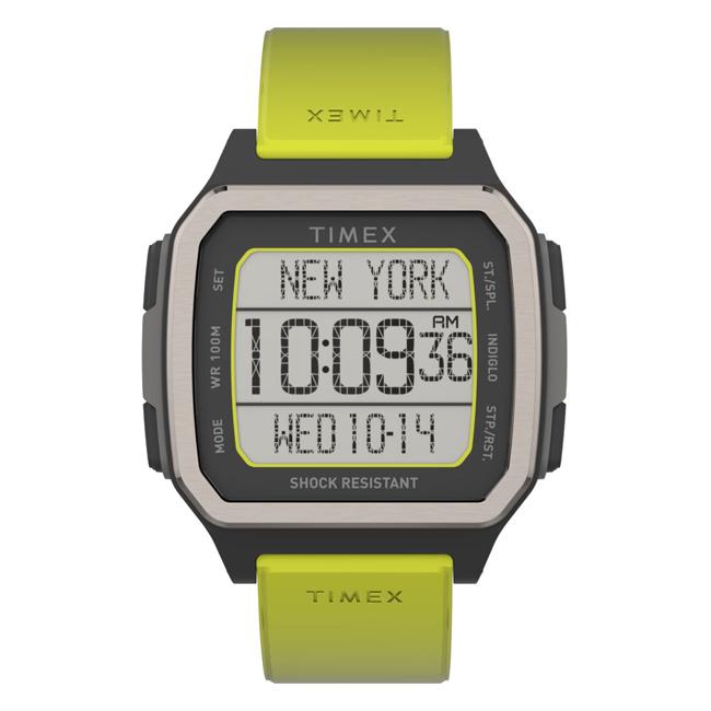 【日本未発売】TIMEX タイメックス コマンド アーバン 47MM TW5M28900 腕時計 メンズ デジタル ブラック 黒 イエロー 黄色 海外モデル