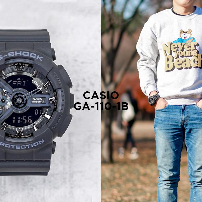 【10年保証】CASIO G-SHOCK カシオ Gショック GA-110-1B 腕時計 メンズ キッズ 子供 男の子 アナデジ 防水 ブラック 黒