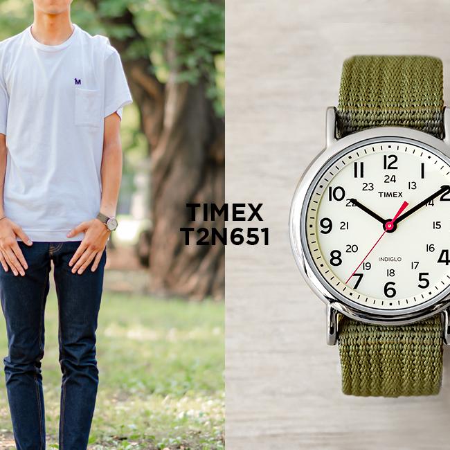 並行輸入品 送料無料 敬老の日 TIMEX タイメックス ウィークエンダー 直送商品 38MM 今ダケ送料無料 メンズ T2N651 腕時計 時計 レディース アイボリー ブランド プレゼント ギフト ナイロンベルト ミリタリー カーキ アナログ