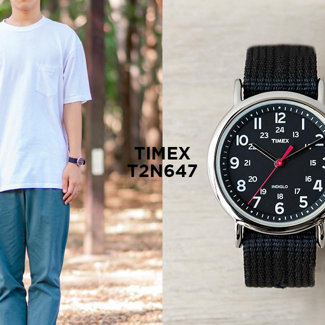 並行輸入品 誕生日 お祝い 送料無料 敬老の日 TIMEX タイメックス ウィークエンダー 38MM メンズ T2N647 腕時計 時計 アナログ シルバー ミリタリー 黒 ブラック レディース 評価 プレゼント ナイロンベルト ギフト ブランド