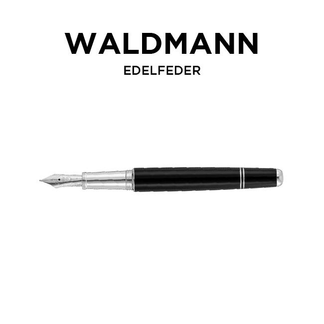 並行輸入品 送料無料 日本未発売 人気ブランド多数対象 WALDMANN ヴァルドマン イーデルフィーダー エディトリアル 万年筆 極細 シルバー ブラック 2020 文房具 EF 筆記用具 黒 海外モデル 5766