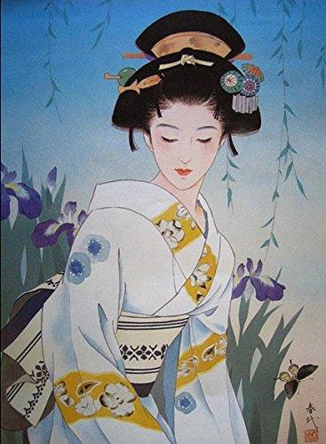 ししゅう糸 DMC糸 クロスステッチ刺繍キット 布地に図柄印刷 日本芸妓Part8