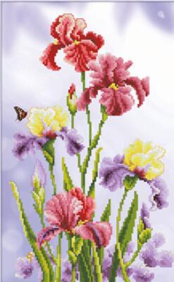 ししゅう糸 DMC糸 クロスステッチ刺繍キット5D図案印刷 鷹尾花