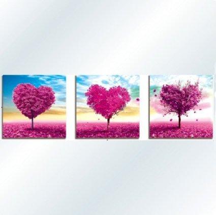 カラービーズ ストーン画 ハートの樹 3画セット