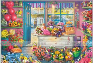 ししゅう糸 DMC糸 クロスステッチ刺繍キット 布地に図柄印刷 ロマン花店