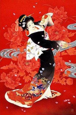 ししゅう糸 DMC糸 クロスステッチ刺繍キット 布地に図柄印刷 日本芸妓Part10
