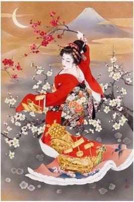 ししゅう糸 DMC糸 クロスステッチ刺繍キット 布地に図柄印刷 日本芸妓Part11