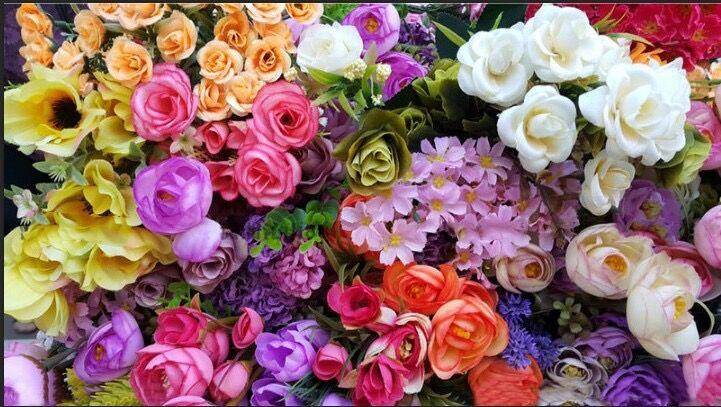 ししゅう糸 DMC糸 クロスステッチ刺繍キット 布地に図柄印刷 薔薇チューリップ花園