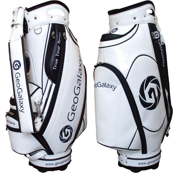 GeoGalaxy/ジオギャラクシー 9.5 Tour Model Caddie Bag White/Navy 9.5型ツアーモデル キャディバッグ ホワイト/ネイビー ヘッドカバー5点付属 ツアープロ使用モデル【送料無料】