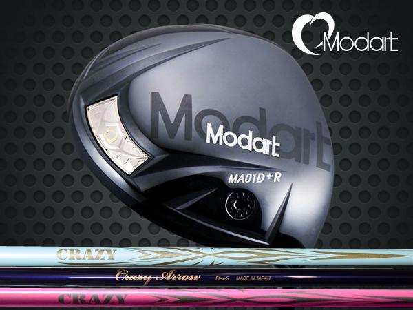 【カスタムオーダー】Modart/モダート MA01D+R DRIVER クレイジー アロー 軽量・軽硬シャフト装着ドライバー CRAZY ARROW 長尺モデル対応ヘッド ドラコン 【送料無料】
