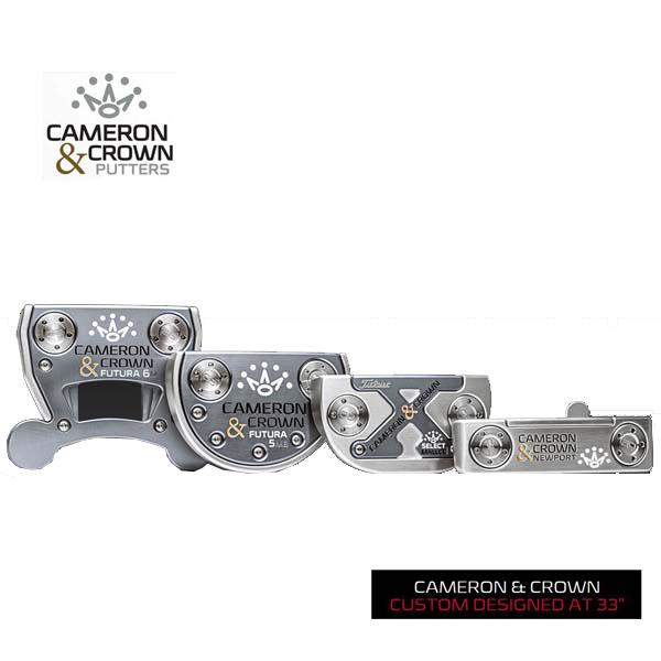 【即納】【日本正規品】【2017年限定品】 スコッティキャメロン/Scotty Cameron Cameron&CROWN Limited PUTTER キャメロン&クラウン C&C パター 33インチ 【送料無料】