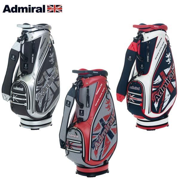 【2019年モデル】 Admiral Golf/アドミラルゴルフ 杢調擦れプリント キャディバッグ ADMG9SC4 9.0型 46インチ対応 軽量 【送料無料】