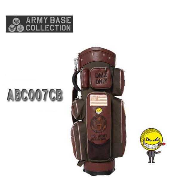 アーミーベースコレクションABC007CB キャディバッグUS ARMY/USアーミーBROWN×GREEN【送料無料】