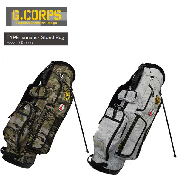 G.CORPS/ジーコープスTYPE launcher Stand Bag/タイプ ランチャー 9.0型スタンドキャディバッグ GC0005GCORPS 迷彩/アーミーMESH MULTI-CAM/MESH MULTI-CAM-ALPINE【送料無料】