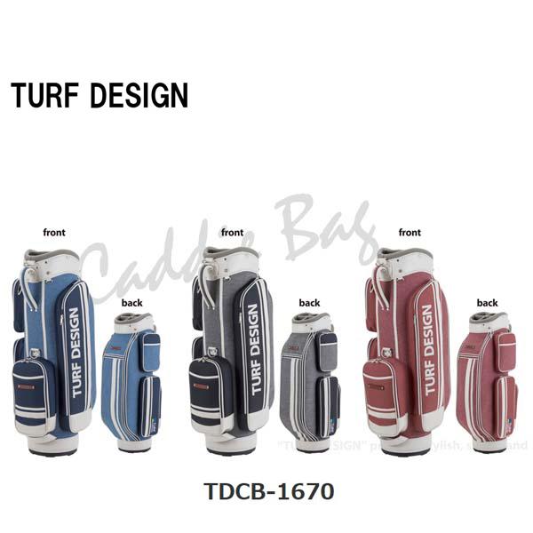 【即納】2016'ターフデザインTDCB-1670 キャディバッグシンプルな色使いとポケットのデザインが魅力的TURF DESIGN【送料無料】