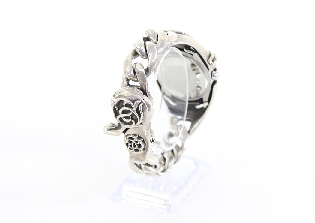 Chromic Hertz /Chrome Hearts X Rolex Air-King floral motif watch (silver) bb26#rinkan*B