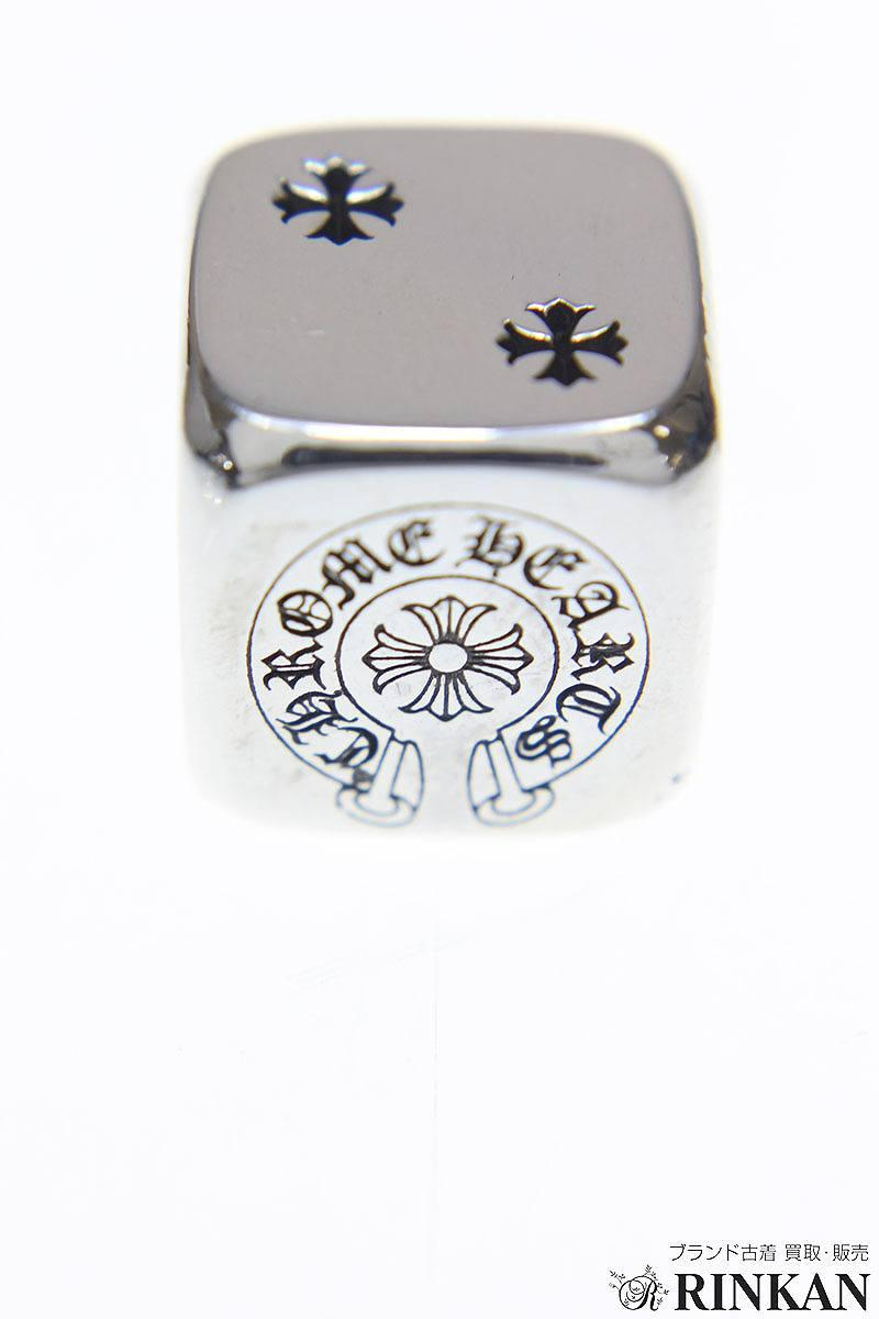Chromic Hertz /Chrome Hearts silver dice two set (61 g of silver / gross weight) bb70#rinkan*S