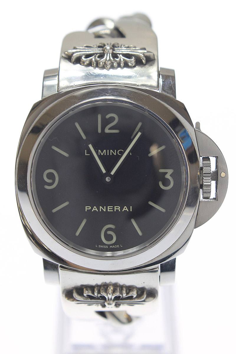 Stores That Accept Paypal Credit Online >> RINKAN: パネライ /PANERAI X chrome Hertz floral cross ID classical music chain watch breath watch ...
