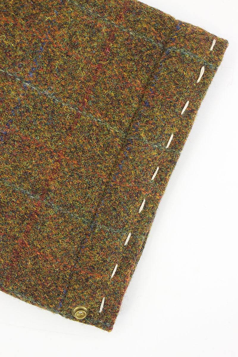 含bizubimu/VISVIM丝绸中的棉的哈里斯苏格兰呢大衣(3/棕色风格)bb51#rinkan*A