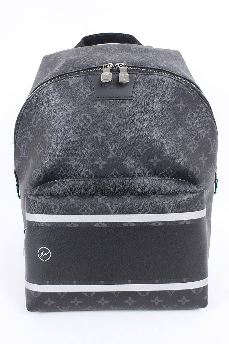 cf90f1436a Louis Vuitton /LOUISVUITTON X fragment design monogram leather change  backpack (black X gray) bb165#rinkan*S